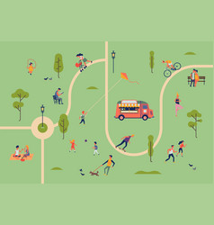 summer park activities concept vector image