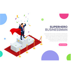 superhero businessman or manager concept with vector image