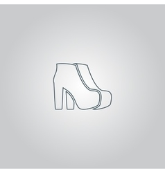 Two Woman Shoes vector image