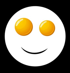 vector smile fried egg vector image