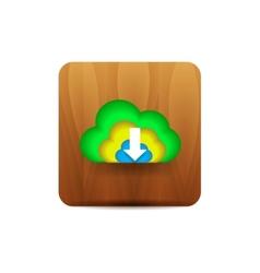 Virtual cloud icon vector image