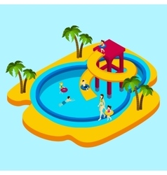 Water Park vector image