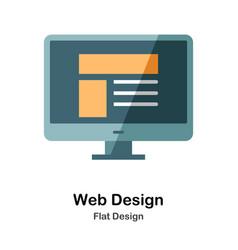 Web design flat icon vector