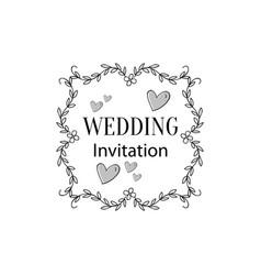wedding ornament vector image