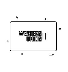 Western union credit card design vector