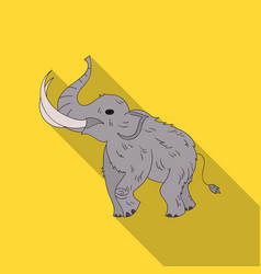 woolly mammoth icon in flate style isolated on vector image
