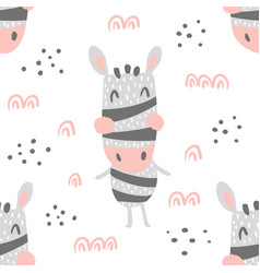 Zebra heads pattern vector