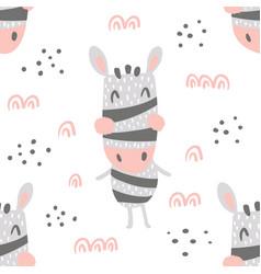 zebra heads pattern vector image