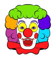 clown icon icon cartoon vector image