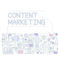 Content Marketing Infographics vector image