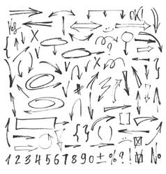 Ink arrows set vector image