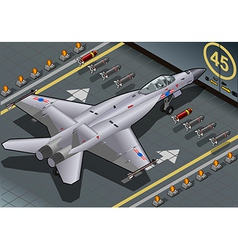 Isometric Fighter Bomber Landed in Rear View vector image vector image