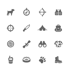 Simple Hunting Icons vector image vector image
