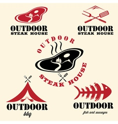 steak house and bbq outdoor vector image