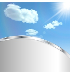 Abstract background with sky vector image vector image