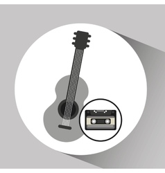 cassette vintage guitar style hipster vector image vector image