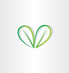 eco green leaf sign vector image vector image