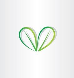 eco green leaf sign vector image