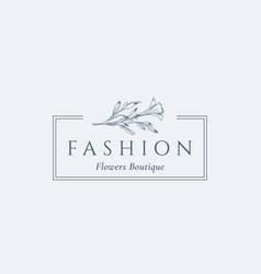 fashion flowers boutique abstract sign vector image vector image