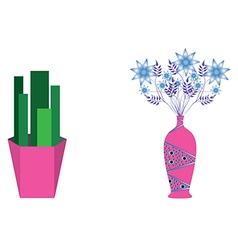 Flower jar vector image vector image