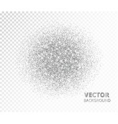 Sparkling circle silver glitter explosion vector