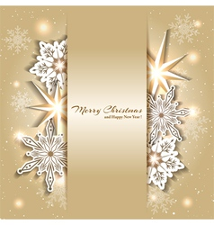 Sparkling Golden Christmas Background vector image vector image
