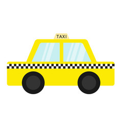 taxi car cab icon cartoon transportation vector image