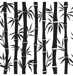 Bamboo pattern silhouette vector image vector image