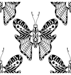 butterflies on white background vector image