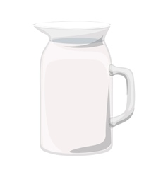 full color with glass jug vector image vector image