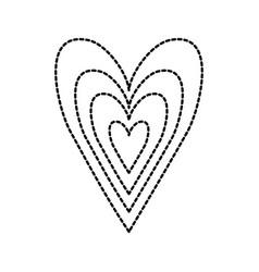 hearts love romance dots linear decoration vector image vector image