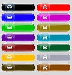 Auto icon sign Set from fourteen multi-colored vector image vector image