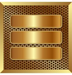 Golden banners vector
