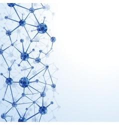Molecules background vector image