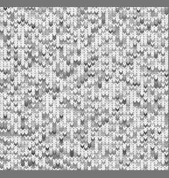 seamles gray ktitted pattern vector image