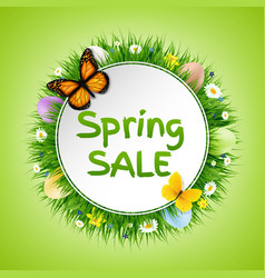 spring poster vector image vector image