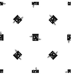 sword box pattern seamless black vector image vector image