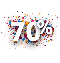 70 sale sign vector image