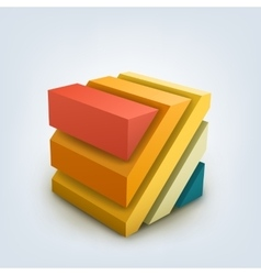 Abstract 3d cube vector