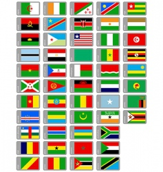 African flags collection vector