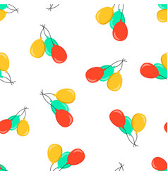 Air balloon icon seamless pattern background vector