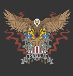 American eagle veteran vector
