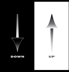 Arrow icons up and down vector