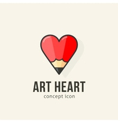 Art heart abstract concept icon vector