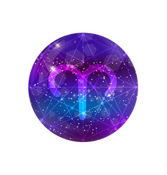 Astrological symbol aries abstract shiny vector