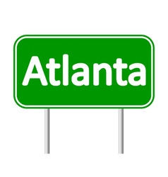 Atlanta green road sign vector image