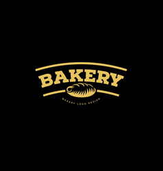 bakery emblem fresh bread logo vector image