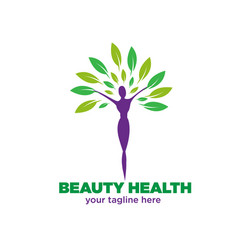 beauty health logo designs vector image
