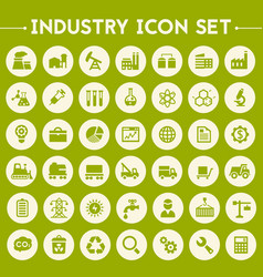 Big industry icon set vector