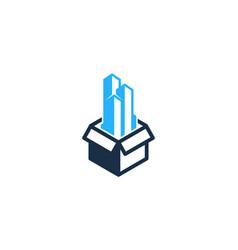 building box logo icon design vector image